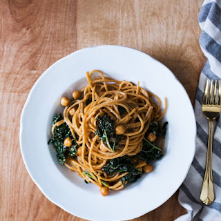 Spaghetti with Tuscan Kale & Chickpeas