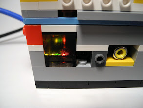 Photo: A window to check the status LEDs.