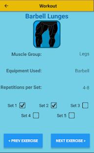 Workout Builder - náhled