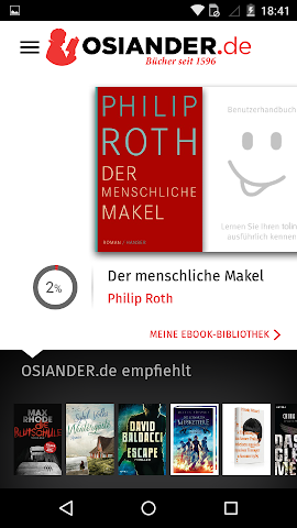 android OSIANDER eBooks mit tolino Screenshot 0