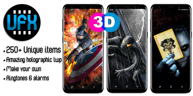 VFX 3D Wallpapers & Ringtones Pro (Parallax) - náhled