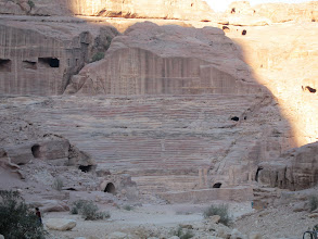 Photo: The theatre (carved by the Nabateans and later expanded by the Romans)