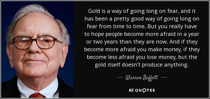 Citação de Warren Buffett. Tradução na legenda da imagem.