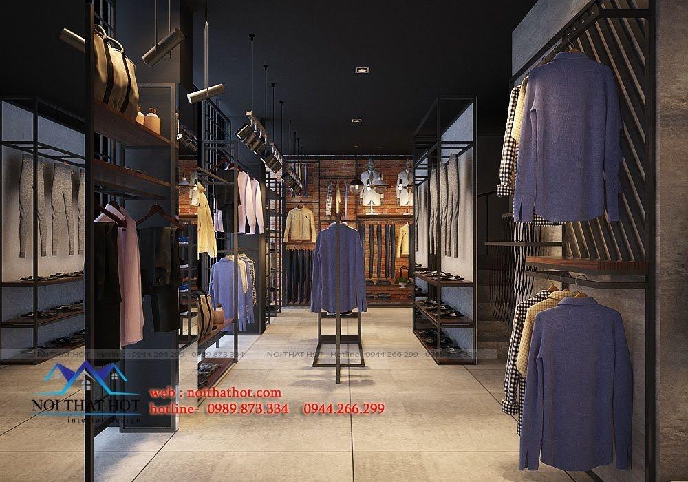 thiết kế shop thời trang nam H2T 5