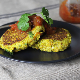 Mashed Vegetable & Quinoa Fritters - a leftovers delight!