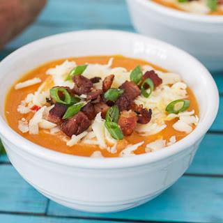 Loaded Sweet Potato Soup.