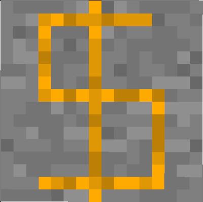 Gold ore coin