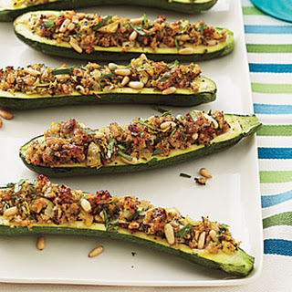 Stuffed Zucchini with Cheesy Breadcrumbs