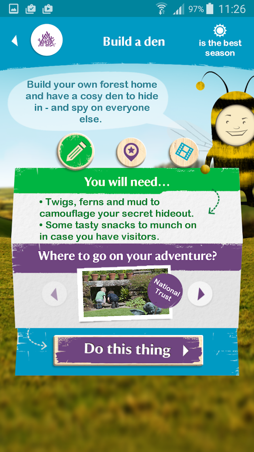 National Trust 50 things- screenshot