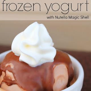 Nutella Frozen Yogurt with Homemade Nutella Magic Shell.