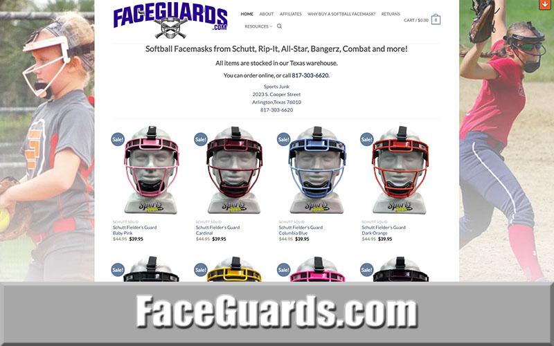 Faceguards.com Softball Facemasks and Face Protectio
