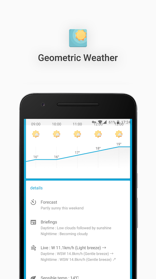 Screenshot 3 Geometric Weather 2.214 APK PAID