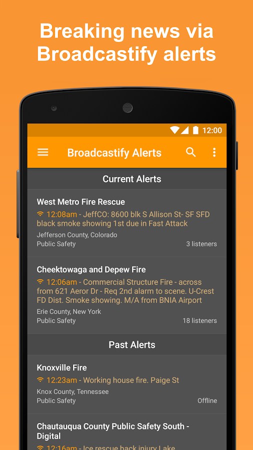 Scanner Radio: Police, Fire, and Air Traffic- screenshot