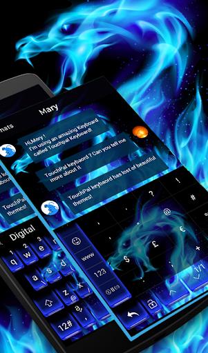 玩免費生活APP|下載Blue Flame Dragon Keyboard app不用錢|硬是要APP