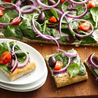 Greek Appetizer Flatbread.