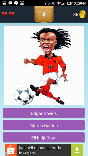 Caricature Soccer Players Quiz