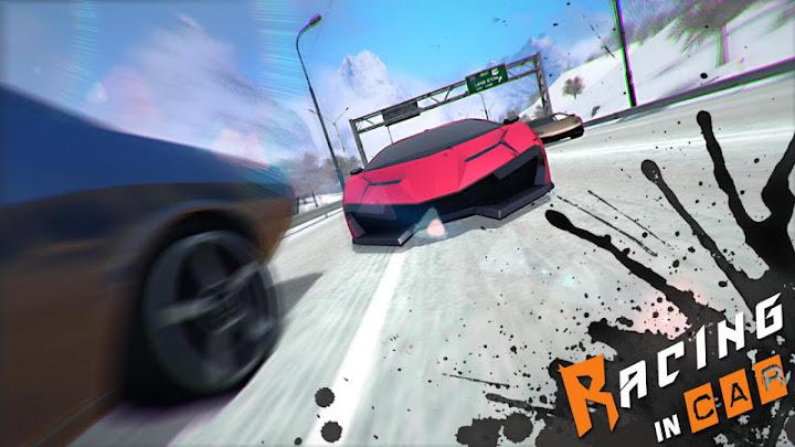 Racing In Car 3D Android App Screenshot