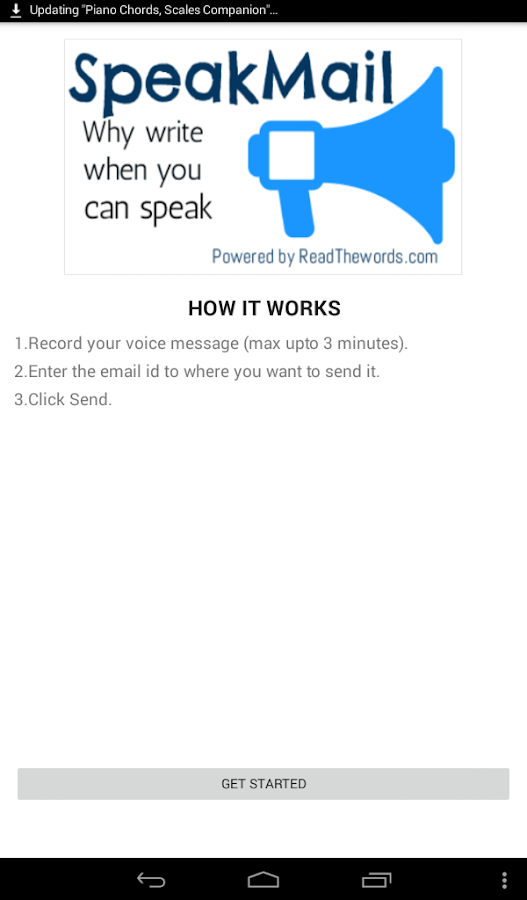 SpeakMail by ReadTheWords.com- screenshot