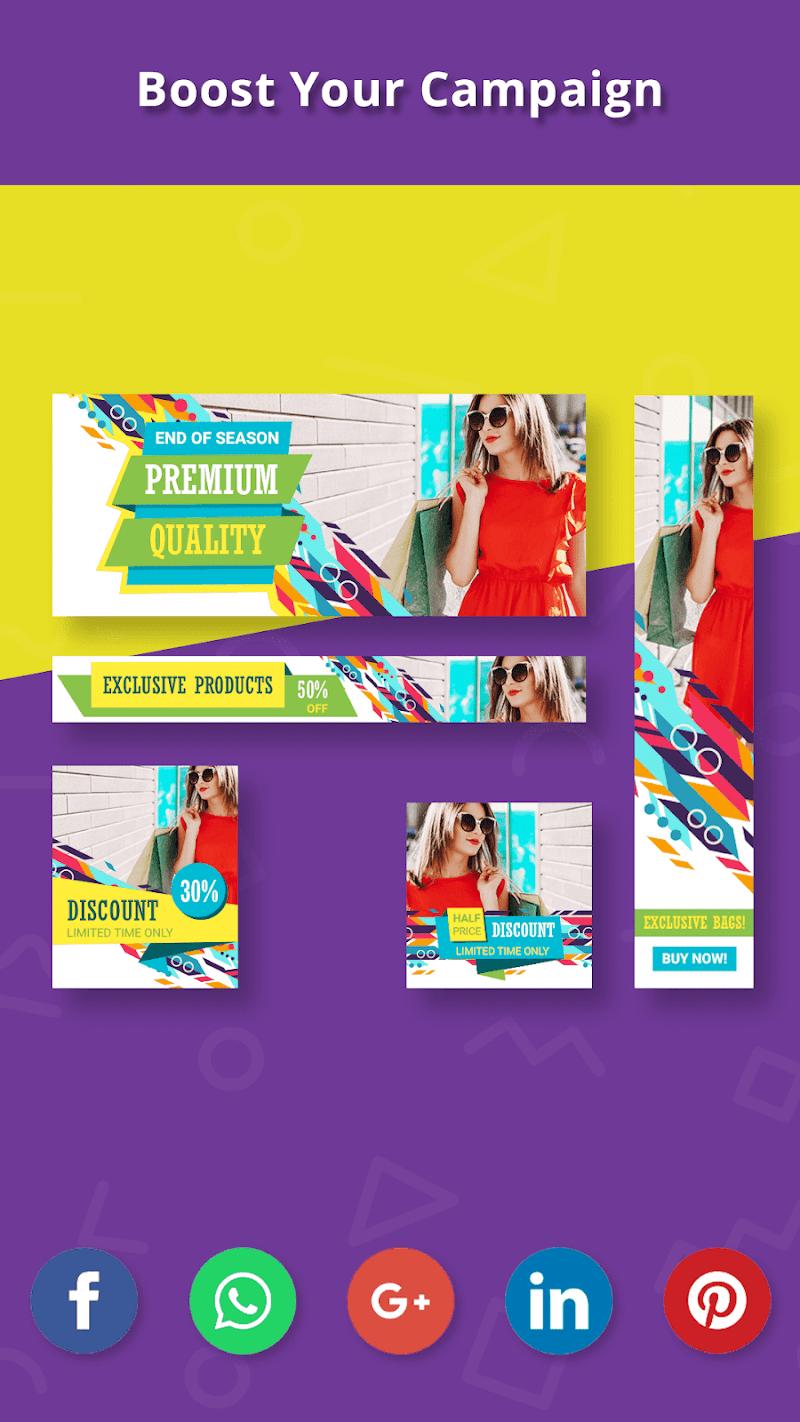 Banner Maker, Ad Maker, Web Banners, Graphic Art Screenshot 7