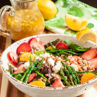 Strawberry Asparagus Farro Salad