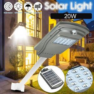 Lampa stradala, Proiector LED 20W cu panou solar si senzor de miscare