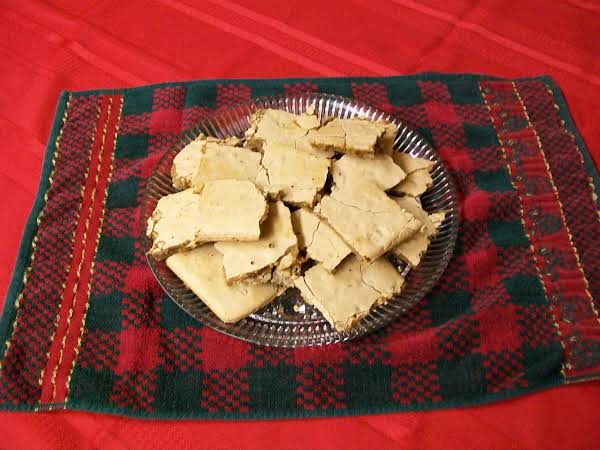 After They Are Cut Into Squares, They Are Crisp On Top And Chewy On The Bottom. Be Sure To Turn Them Upside Down And Dry A Little Before Putting Them On A Serving Plate.
