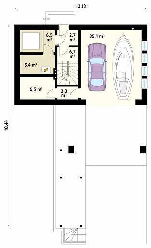 MS-G14 - Rzut garażu
