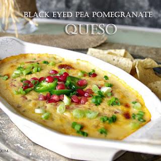 Black Eyed Pea Pomegranate Queso