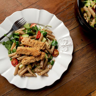 Lemon Pepper Pasta Salad W/ Peanut Crusted Tofu Recipe