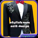 Stylish Man Suit Design icon