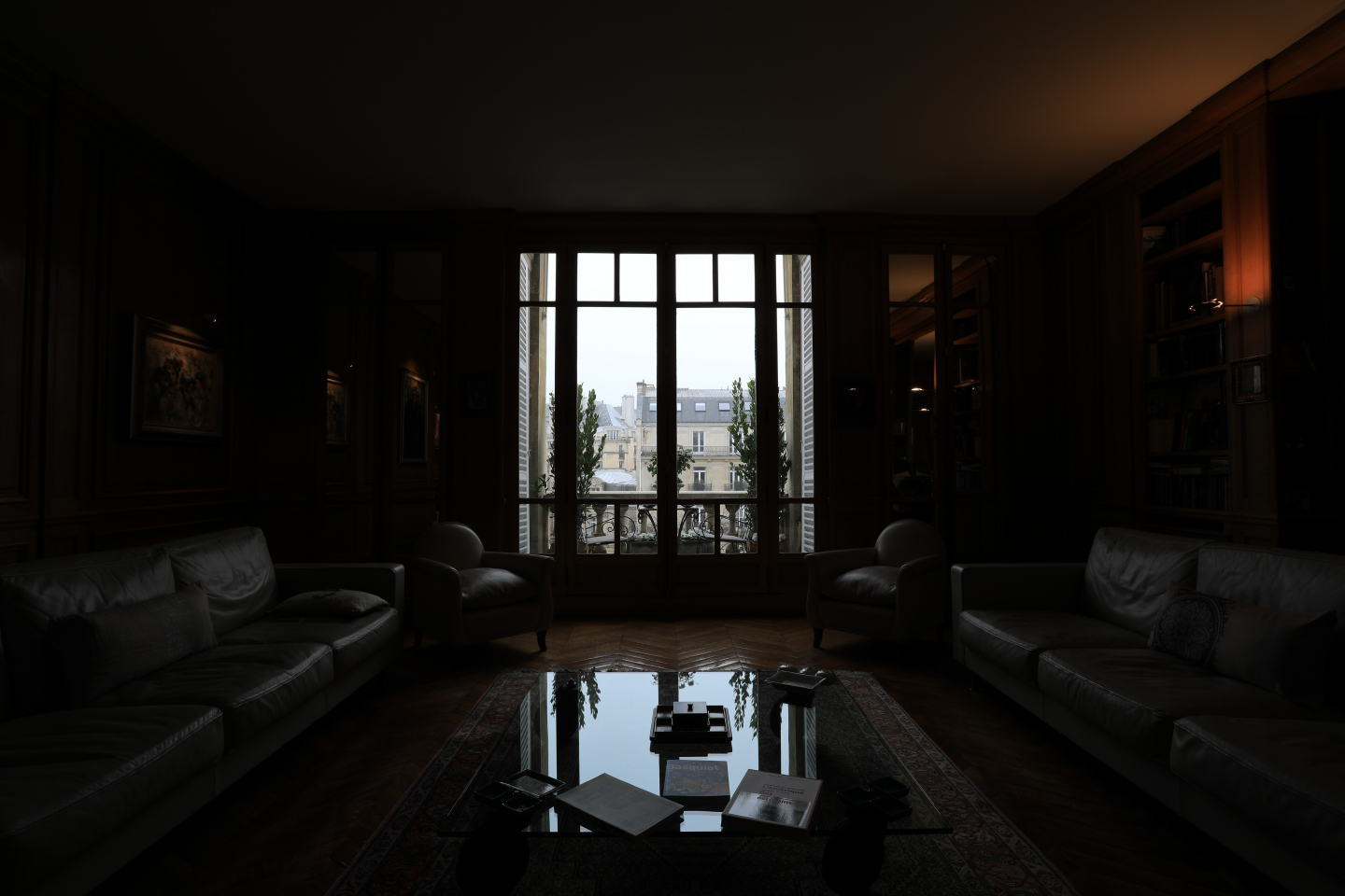 dark living room
