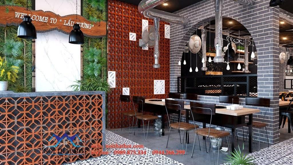 thiết kế nhà hàng lâu nướng cổ điển
