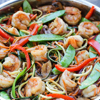 Zucchini Noodle Shrimp Stir-Fry