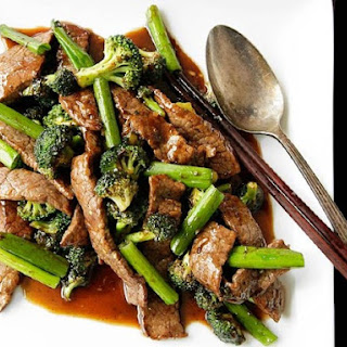 Chinese-American Beef and Broccoli With Oyster Sauce.