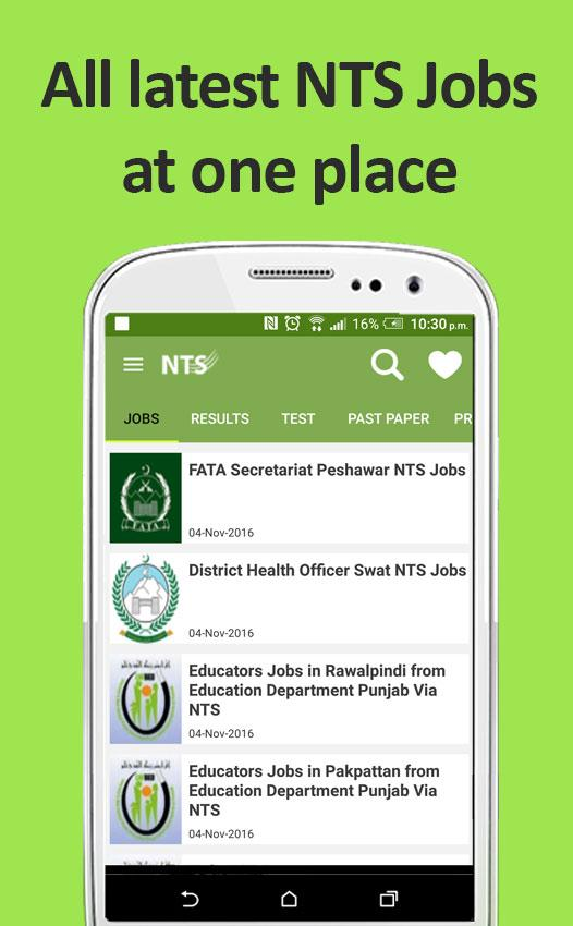 NTS Test Preparation & Jobs- screenshot