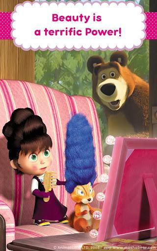 Masha and the Bear: Hair Salon and MakeUp Games 1.1.8 screenshots 19