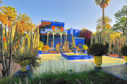 The Majorelle Garden is a 12-acre botanical garden in Marrakesh, Morocco. An archaeological museum, it contains the Islamic Art Museum of Marrakesh.