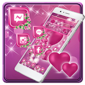 Pink Heart Diamond Theme