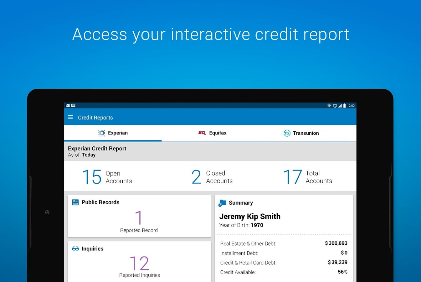 free credit report from experian