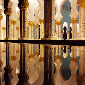 The Column by Jbern Eugenio - Instagram & Mobile Other ( building, reflection, detail, mosque, art, column, fine art, architecture )