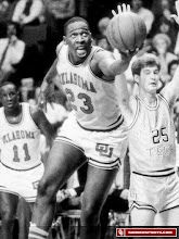 Photo: Tisdale gets off a finger-roll against Georgia Tech and Bartlesville, Okla., native Mark Price.