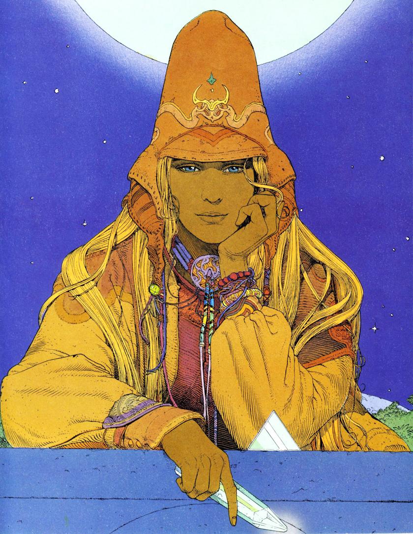Ilustração de Moebius chamada Starwatcher.