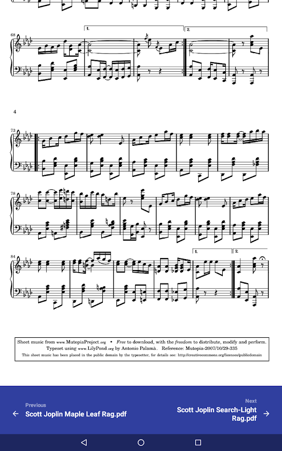 Sheet Music- screenshot