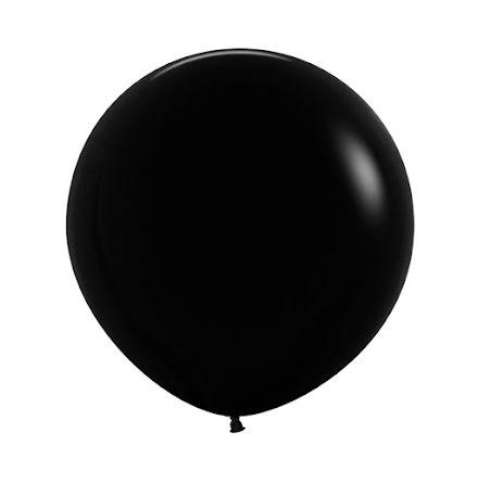Ballong, jumbo svart 90 cm 1 st