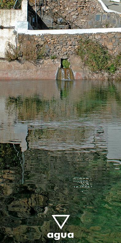 La balsa de Huebro, agua.