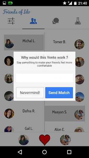 Yente - Match Your Friends
