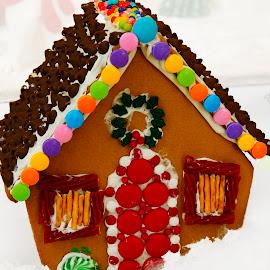 Gingerbread House  by Dee Haun - Artistic Objects Other Objects ( artistic objects, gingerbread house, winter, 181129f6993ce1, christmas, colorful )