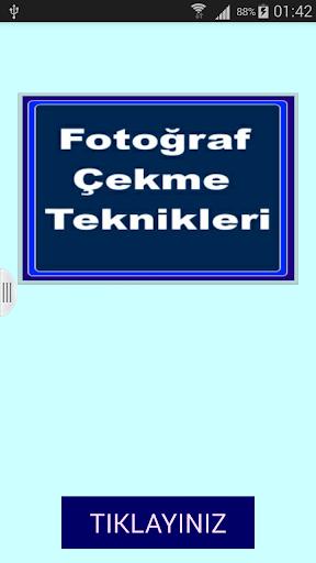 Fotoğraf Çekme Teknikleri