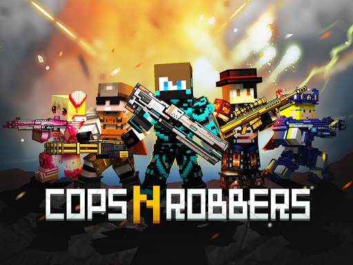 Cops N Robbers - 3D Pixel Craft Gun Shooting Games 9.8.4 Screenshots 17