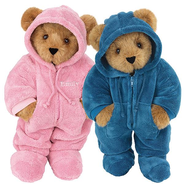Photo: Pink & Blue Hoodie-Footie Bears